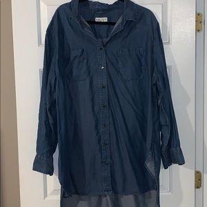 Women's Denim Tunic, Size 2X